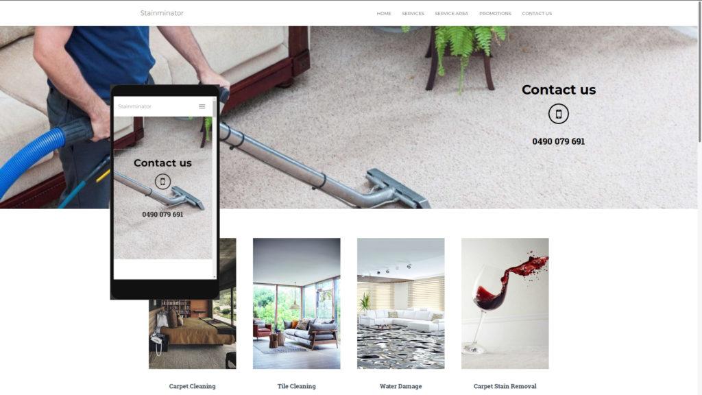 Stainminator Web Page